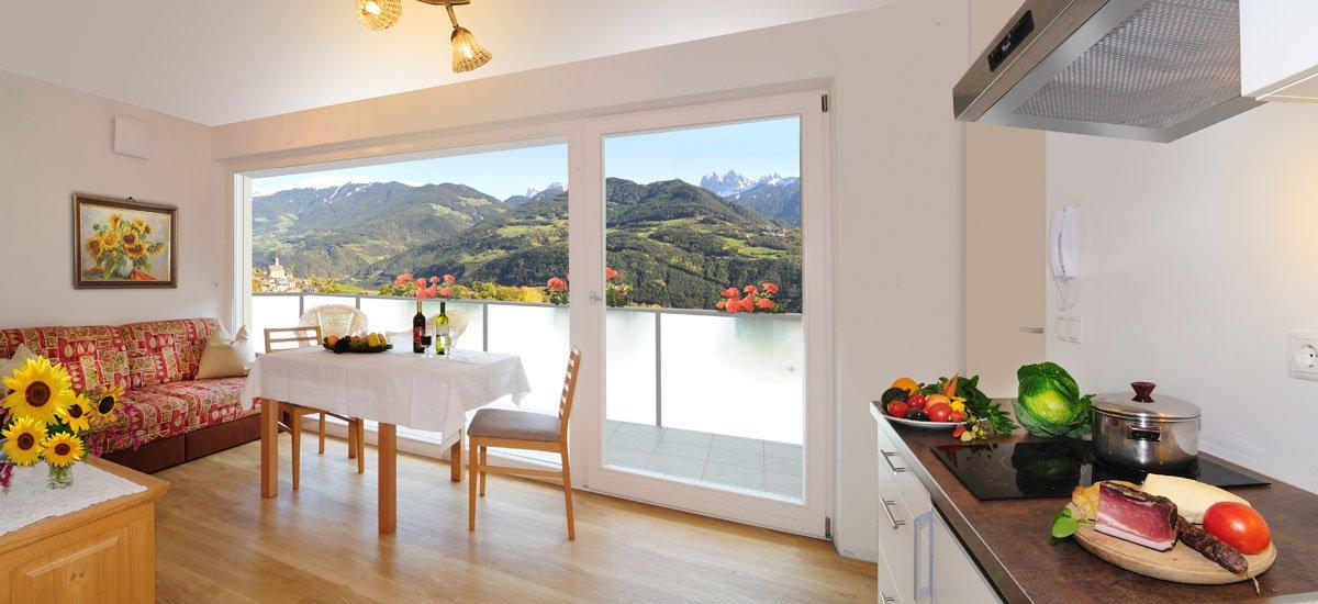 Appartement mit Bergblick in Feldthurns